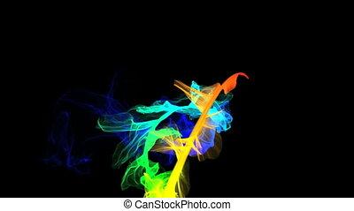 Smoke swirl spin