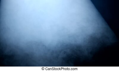 Smoke texture on the stage in the lights