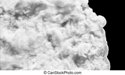 Smoke transition HD - Smoke flow through the frame and fills...