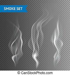Smoke Transparent Background - Delicate white cigarette...