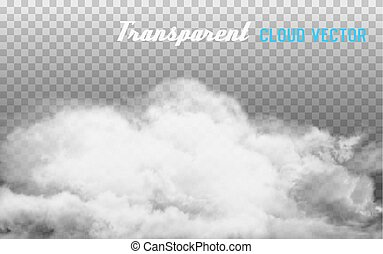 Smoke vector on transparent background.