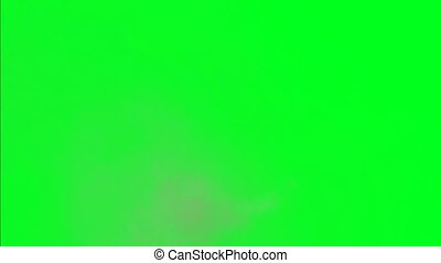 Smoke wind on green screen