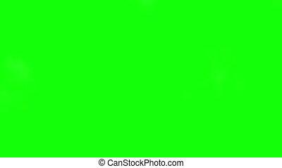 Smoke wipe green screen  - Smoke wipe on green screen