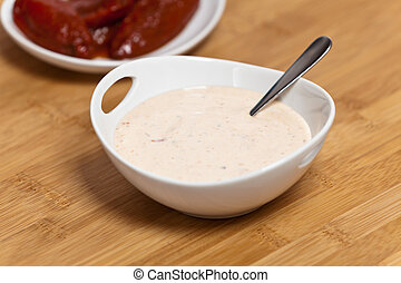 Smoked Chipotle peppers and Chipotle Ranch Dressing