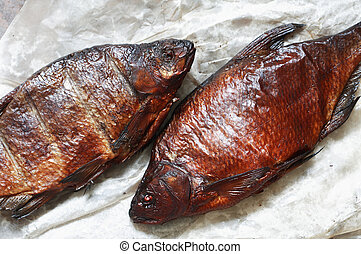 Smoked Fish On Paper