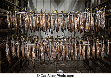 Smoked fish production concept