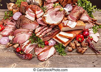 Smoked pork meat