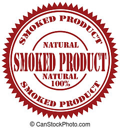 Smoked Product-stamp - Rubber stamp with text Smoked...