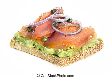 Smoked Salmon and Avocado on Toast