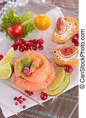 smoked salmon and canape