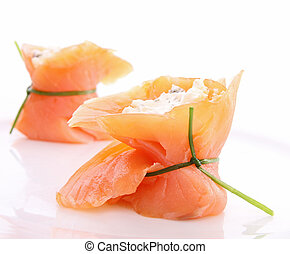 smoked salmon and cheese