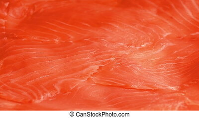 Smoked Salmon Delicacy Closeup - Delicious smoked salmon...