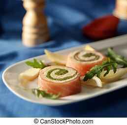 smoked salmon role