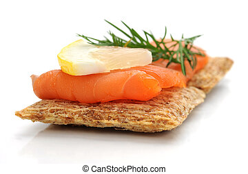 Smoked Salmon Snack