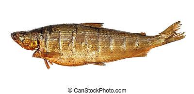 Smoked whitefish isolated on white