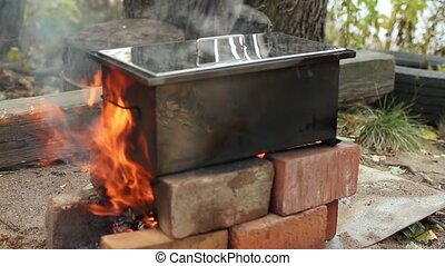 smokehouse, hot smoked fish - smokehouse for homemade hot...