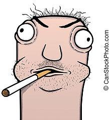 Smoker cartoon