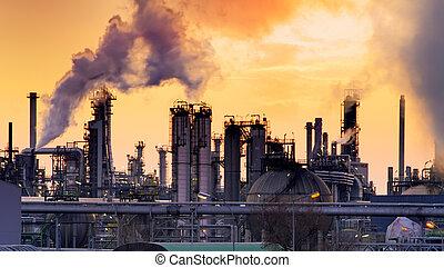 smokestack, em, fábrica