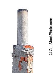 smokestack isolated on white