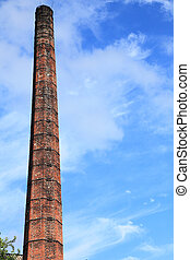 Smokestack of an old abandoned industrial