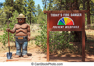 Smokey Bear Kaibab National Forest Tusayan, Arizona