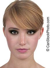 Smokey Eyes - Young woman with smokey eye make up