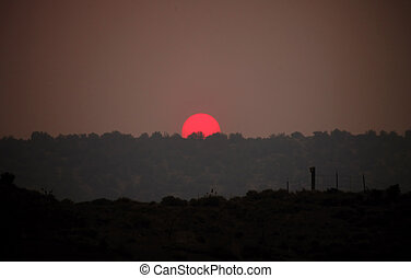 Smokey Haze Sunset