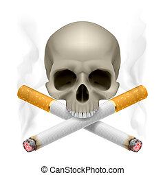 smoking., いいえ
