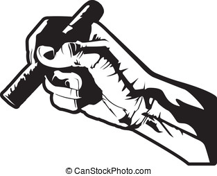 Smoking a Cigar - This is a vector illustration of a hand...