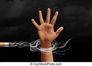 Smoking Addiction Concept - Smoking addiction concept and a...