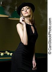 Smoking and billiards
