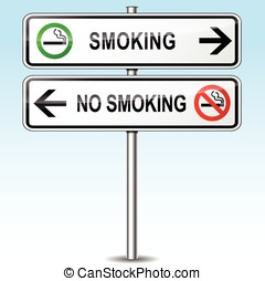 smoking and no smoking sign