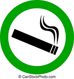 Smoking area vector sign