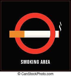 smoking area sign art illustration