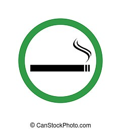 Smoking area sign vector icon