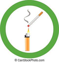Smoking area sign vector illustration