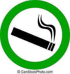 Smoking area vector sign