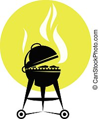 Smoking barbecue grill roaster - bbq party poster