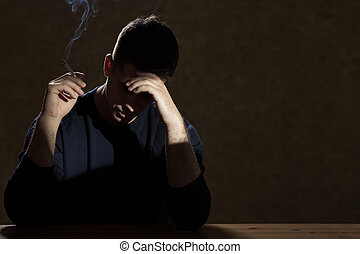 Smoking because of a problem