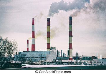 Smoking chimneys of the plant