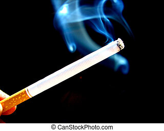 Smoking - Cigarette with smoke