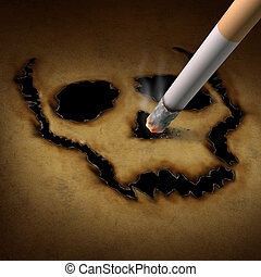 Smoking Danger - Smoking danger concept as a cigarette ...