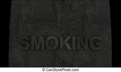 Smoking death. Life-threatening habits. Death - Death. ...
