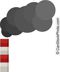 Smoking factory chimney icon