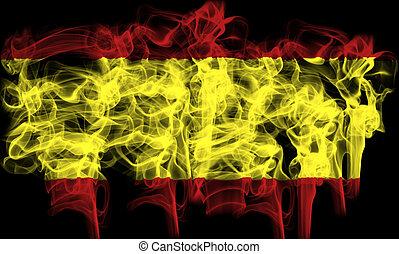 Smoking flag of spain