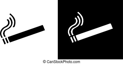 smoking icon isolated on background