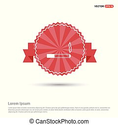 smoking icon - Red Ribbon banner