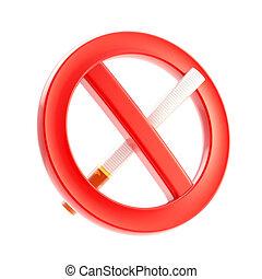 Smoking is not allowed forbidden sign
