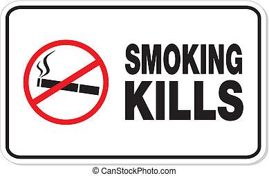 smoking kill rectangle sign