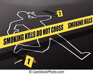 Smoking Kills-Do not Cross
